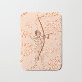 Archer naked girl (Amazons) Bath Mat