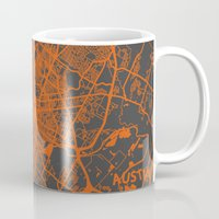 austin Mugs featuring Austin map by Map Map Maps