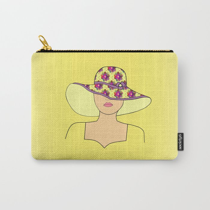 Portrait Of Fashion Carry-All Pouch