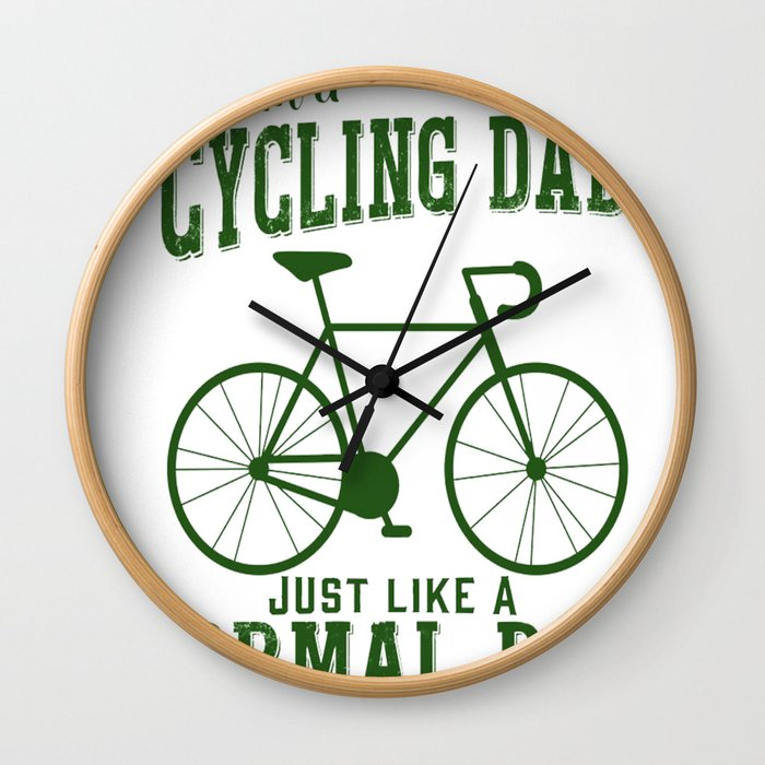 I'm a Cycling Dad - Father Day Wall Clock
