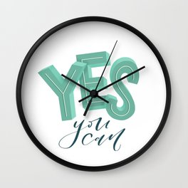 Yes, you can Wall Clock