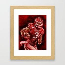 Todd Gurley of UGA Bulldog Football Framed Art Print