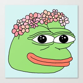 flower pepe Canvas Print