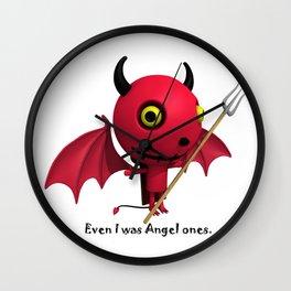 Cute Little Devil - Even I was Angel ones. Wall Clock