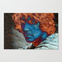 caleb troy Canvas Prints featuring Troy by Robin Curtiss