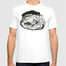 Bird in the Bush Mens Fitted Tee White SMALL