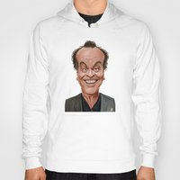 celebrity Hoodies featuring Celebrity Sunday ~ Jack Nicholson by rob art | illustration