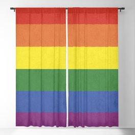 Rainbow stripes Blackout Curtain