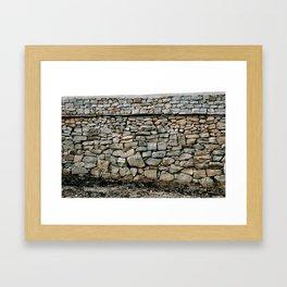 Stone Wall in Southern India (Karnataka & India & Travel) Framed Art Print