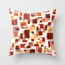 Red Abstract Rectangles Throw Pillow
