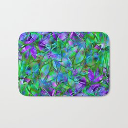 Floral Abstract Stained Glass G295 Bath Mat
