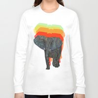 african Long Sleeve T-shirts featuring African Elephant by Ben Geiger