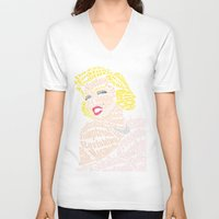 bible verse V-neck T-shirts featuring Marilyn Verse by Kaitlyn Brown