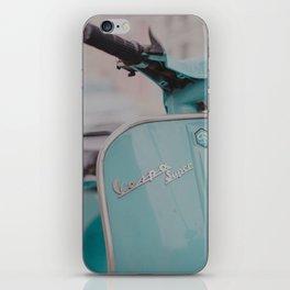 Mint Vespa  iPhone Skin