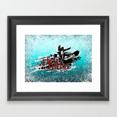 ride hard - snow Framed Art Print