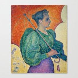 Woman with a Parasol (Femme à l'ombrelle) Canvas Print