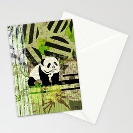 Panda Cub  Abstract vintage pop art composition Stationery Cards