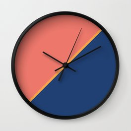 Pink & Rare Purple - 2 color oblique Wall Clock