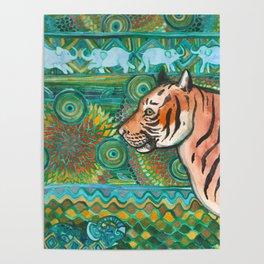 Tiger Mosaic Poster