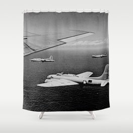 B-17F Flying Fortress Bombers over the Southwest Pacific Shower Curtain