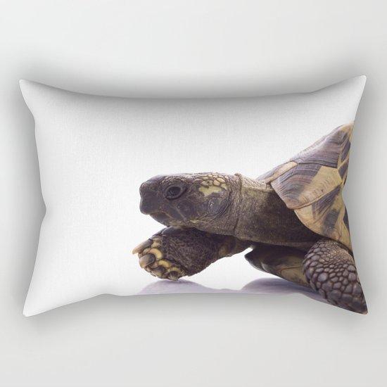 Greek land tortoise Rectangular Pillow