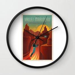 Camping On Mars Wall Clock
