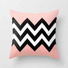 DOUBLE COLORBLOCK CHEVRON {PEACH/PEACH} Throw Pillow