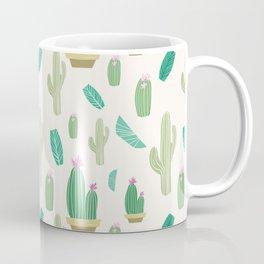 Ivory pastel blush green pink cactus floral Coffee Mug