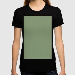 Fresh Green Solid Color Block T-shirt