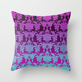 Ombre Damask Throw Pillow