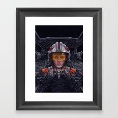 SW Hero Pilot: Luke Framed Art Print