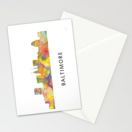 Baltimore Skyline WB1 Stationery Cards