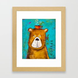 A Bear With A Sore Head Framed Art Print