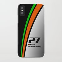 f1 iPhone & iPod Cases featuring F1 2015 - #27 Hulkenberg by MS80 Design