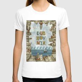 Dubrovnik Croatia - digital illustration T-shirt