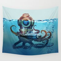 nemo Wall Tapestries featuring Nemo by Tony Vazquez