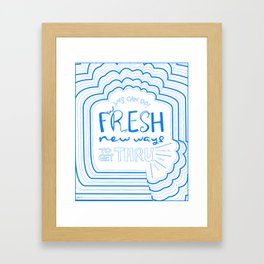 Fresh New Ways – Blueberry Framed Art Print