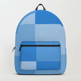 Four Shades of Light Blue Square Backpack