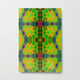 Electric Skull Pattern III Metal Print