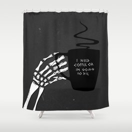 Black Coffee Shower Curtain