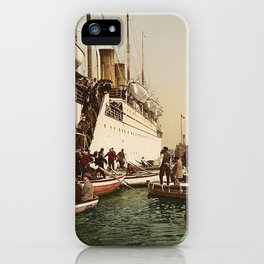 Boarding the Ship - vintage photograph iPhone Case
