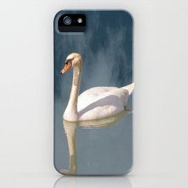The swan in the fog iPhone Case