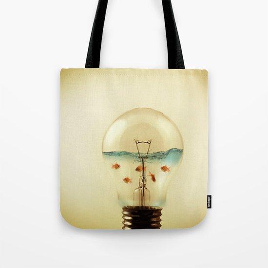 gold fish globe Tote Bag