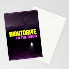 Nightdrive to the disco Stationery Cards