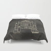 r2d2 Duvet Covers featuring R2D2 by LindseyCowley