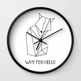 minimal fox Wall Clock