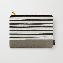 Cappuccino x Stripes Carry-All Pouch