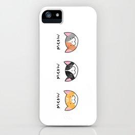Three Meows. iPhone Case