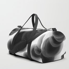Ghostly Glowing Round Abstract - Black and White Duffle Bag
