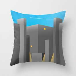 BUILDINGS_01-THE EMPIRE OF LIGHTS Throw Pillow